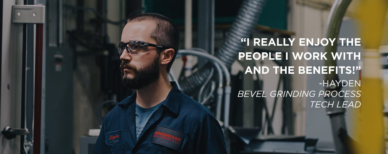 Hayden Bevel Grinding Process Tech Lead