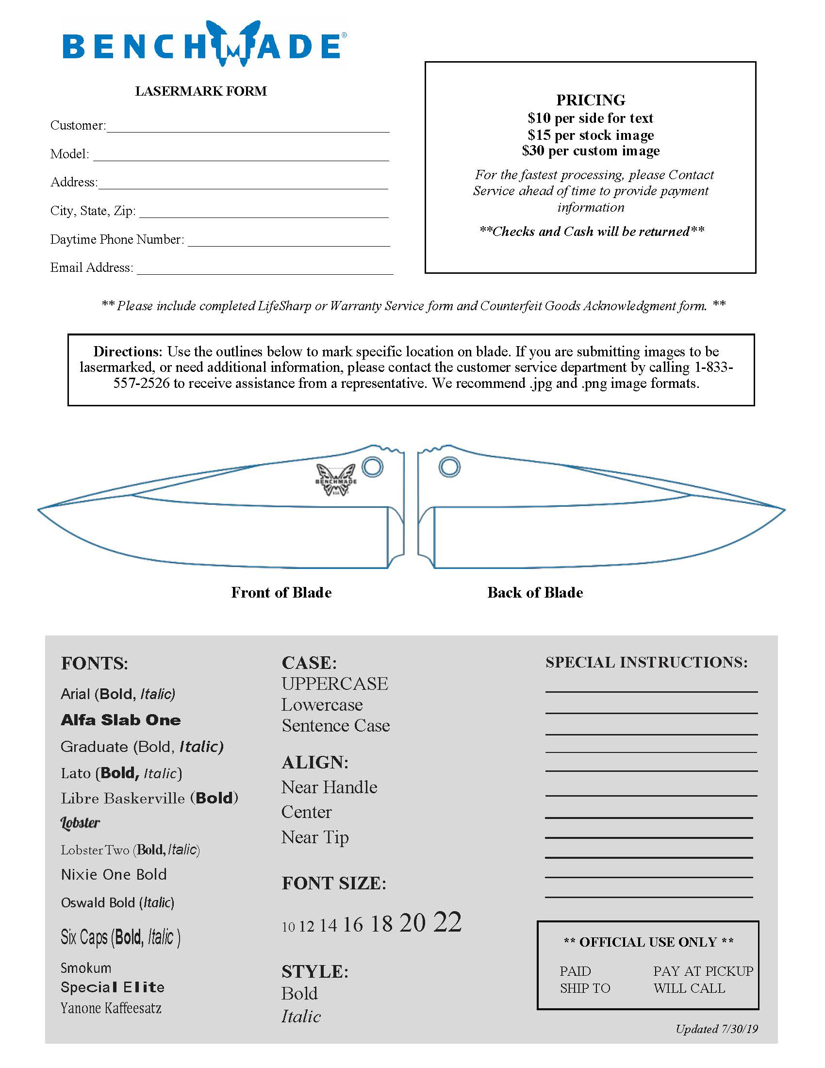 picture relating to As is No Warranty Printable Form called Knife Everyday living Guarantee, Blade Alternative Maintenance